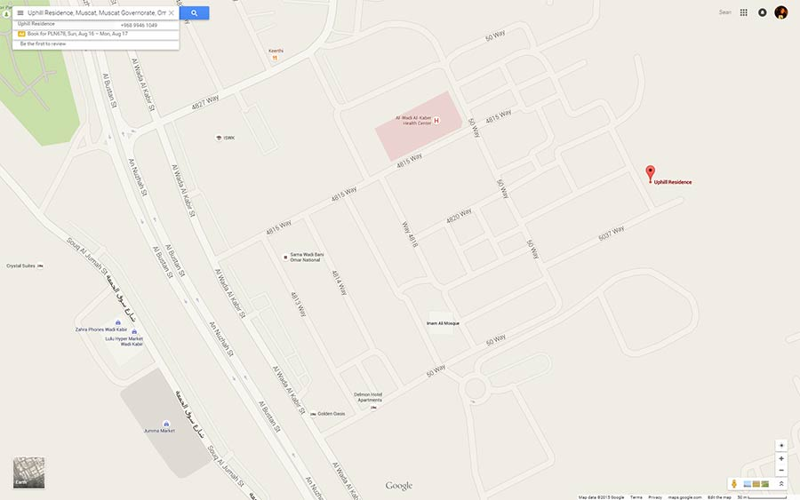 Google Maps in Oman